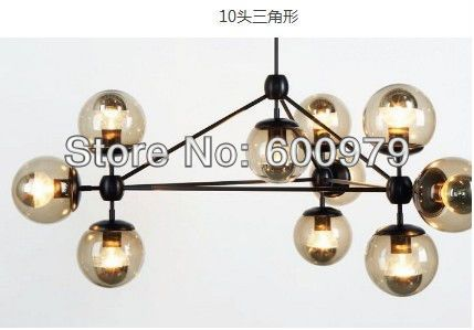 Free shipping hot selling modern glass chandeliers,  Jason Miller  MODO chandelier (10head),living room chandelier $918.08