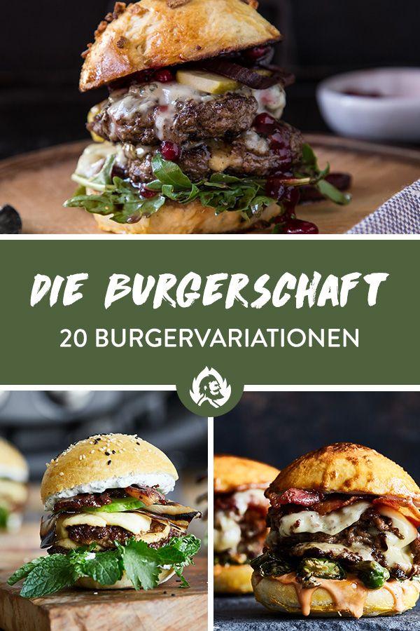 burger rezeptsammlung f r ausgefallene burger vom grill essen pinterest rezepte burger. Black Bedroom Furniture Sets. Home Design Ideas