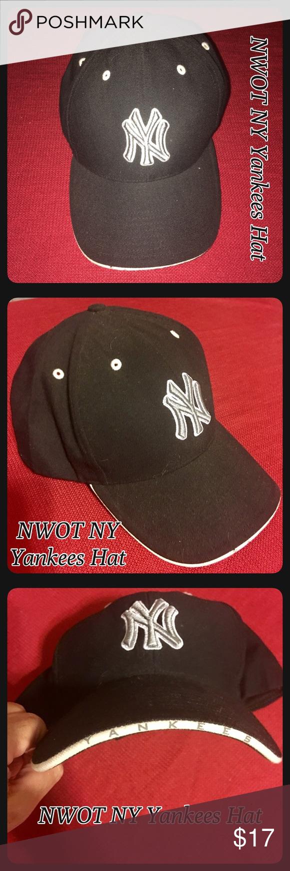 8e7daaba82aea ... new zealand nwot new york yankees adjustable hat unisex nwot new york yankees  hat black with ...