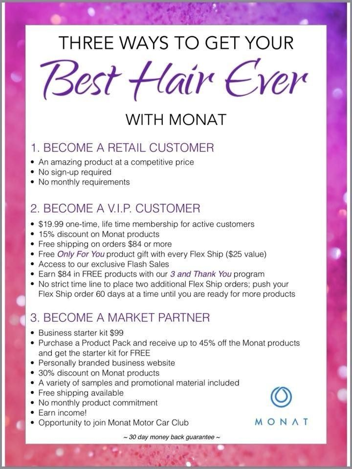 There are 3 ways to shop Monat. Retail customer, VIP
