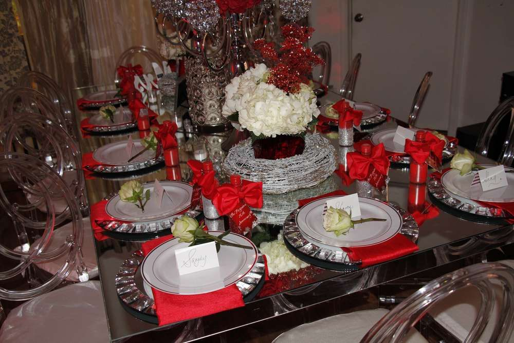 Winter dinner party party ideas 10th wedding anniversary winter