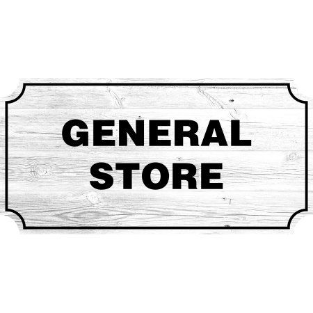 General Store Farmhouse Country Sign Rustic Wall Decor Living Room Signs 12x24 Inch
