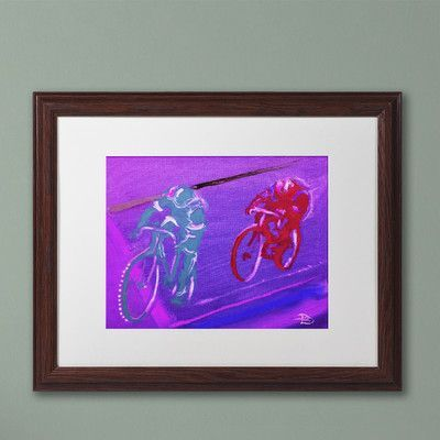 """Trademark Art """"Sandstone Relay"""" by Lowell S.V. Devin Matted Framed Painting Print Size: 16"""" H x 20"""" W x 0.5"""" D"""