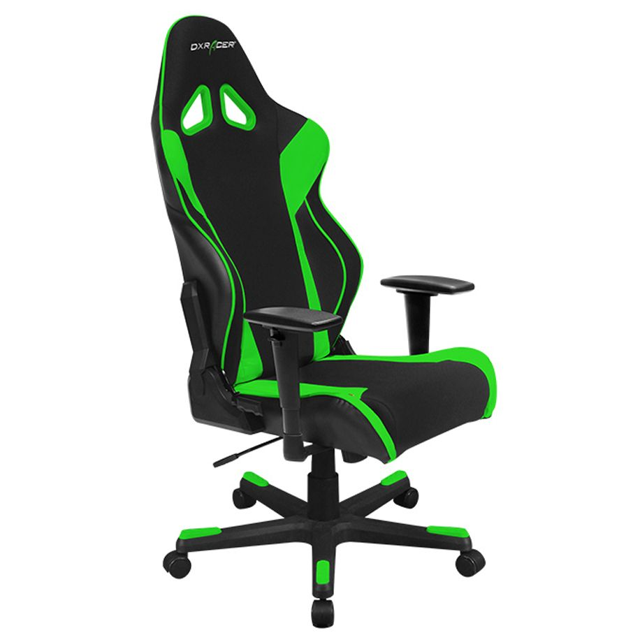Dxracer Rw106ne Racing Bucket Seat Office Chair Gaming Ergonomic Chair Green Chairs Gaming Chair Black And White Chair Office Gaming Chair