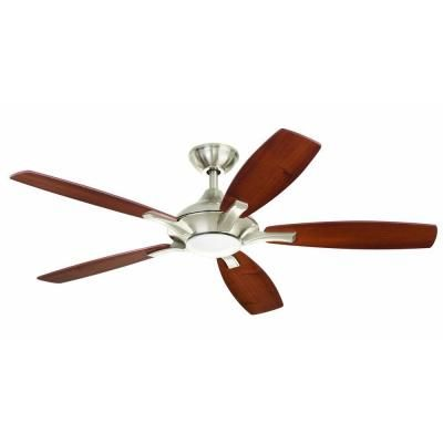 Wonderful Home Decorators Collection Petersford 52 In. LED Brushed Nickel Ceiling Fan    14425   The