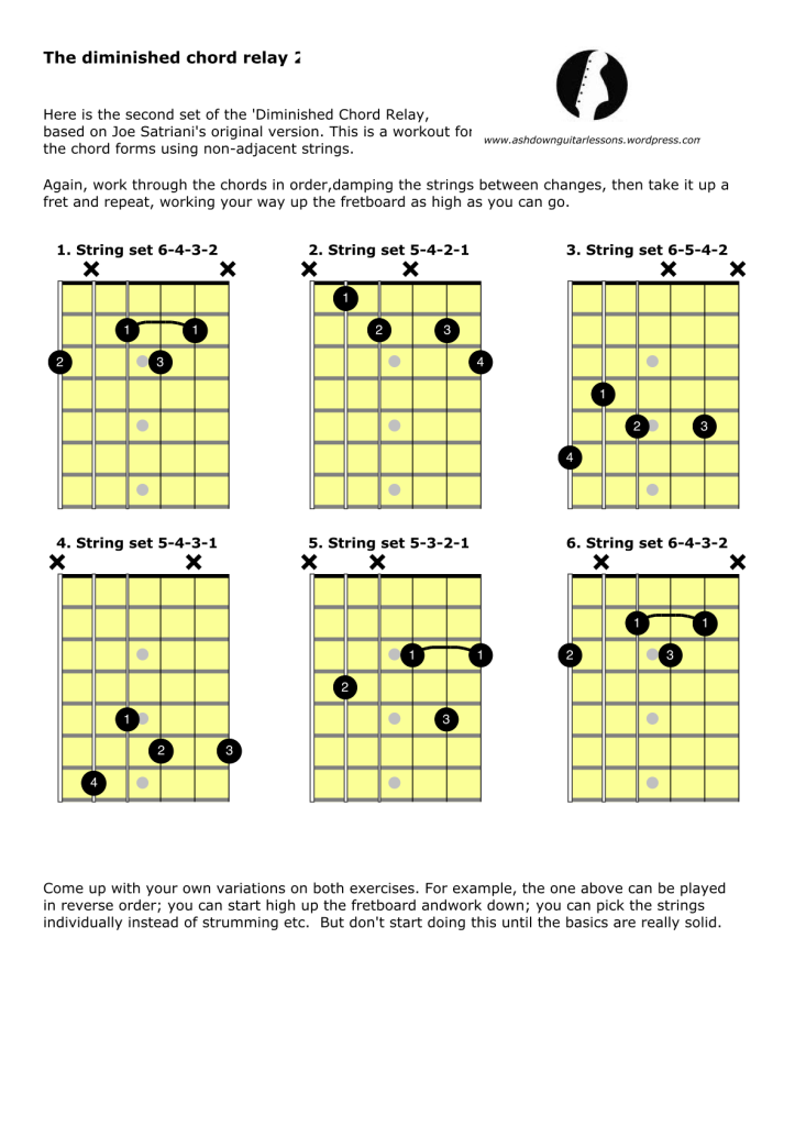 Diminished Chord Relay 2 Diminish Chord Form Pinterest Guitars