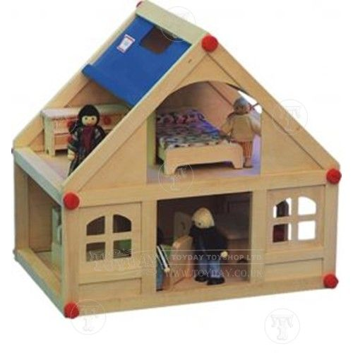 Perfect Dolls House With Furniture And Doll Family: Only £25.00 From Toyday Toyshopu2026