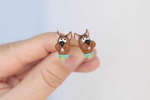 Scooby Doo Tiny Cute Stud Earrings Cuteearring