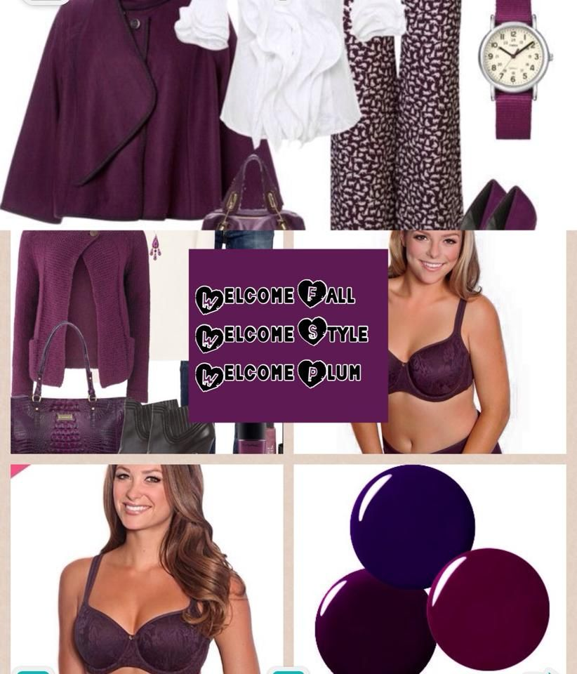 PLUM - the new color - perfect for Fall's newest fashions.  Get yours today!