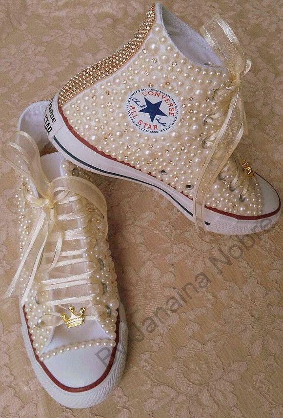 Tênis All star Converse de Pérolas Branco