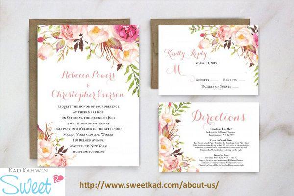 Kad Kahwin Cute Invitations Malaysia Http Www Sweetkad Com About Us Spring Wedding Invitations Southern Wedding Invitations Wedding Invitations