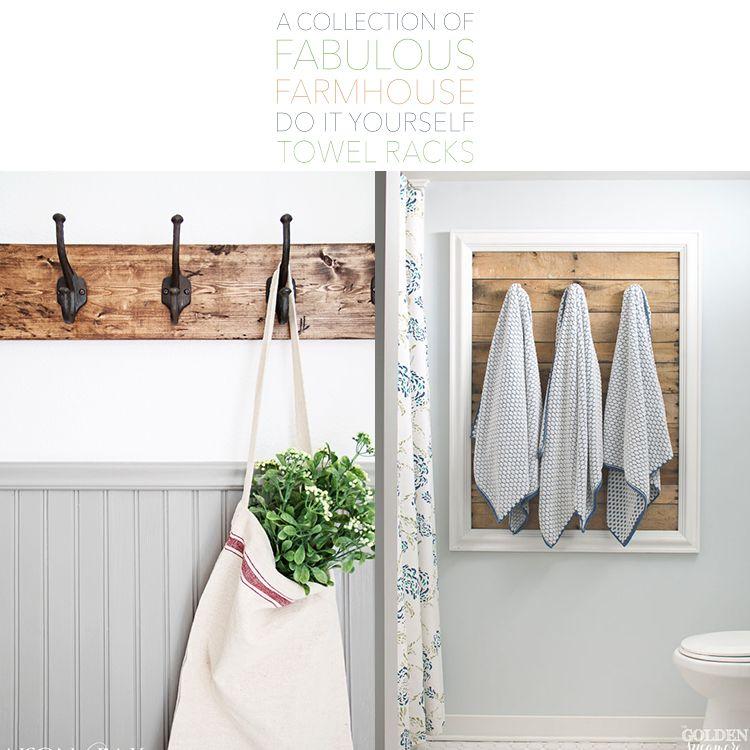 A Collection Of Fabulous Farmhouse Diy Towel Racks The Cottage Market Diy Towel Rack Towel Rack Bathroom Diy Towel Rack