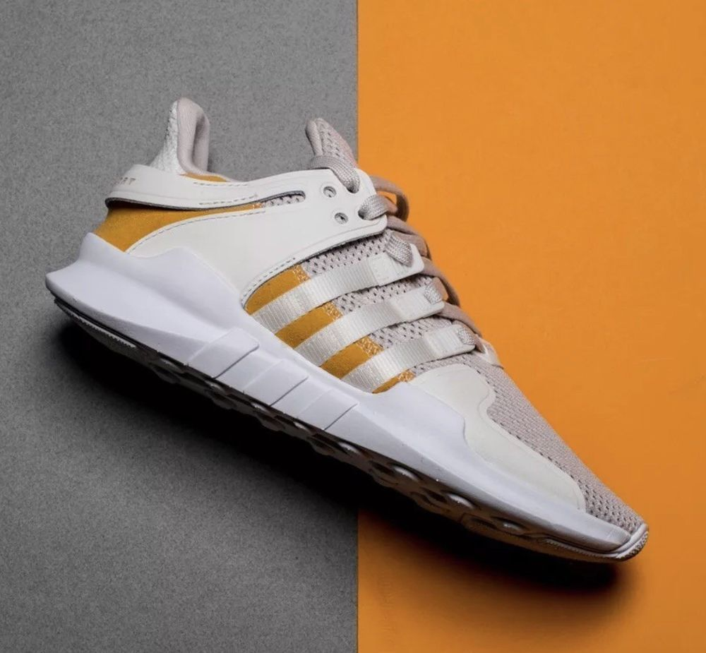 info for 29b14 ef887 Men's Adidas EQT Support ADV Running Shoes Off White Yellow ...