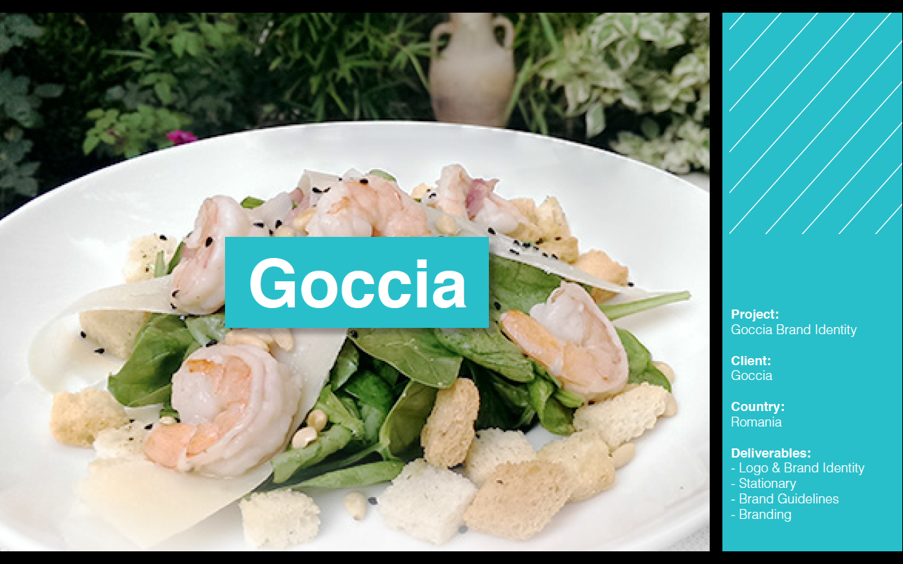 Goccia Restaurant Brand Identity   #branding #identity #agency #creative #design #Beirut #Lebanon #romania #restaurant #menu