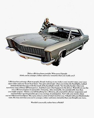 Sizes Are Approximate For General Description Reproduction Image Size Varies Based On Original Poster Dimension Ratios 1965 Buick Riviera Buick Riviera Buick