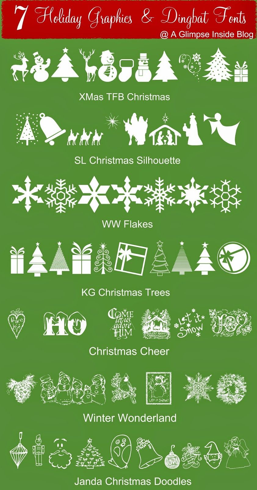 22 Free Holiday Fonts Graphics And Dingbats Holiday Fonts Holiday Graphics Dingbats