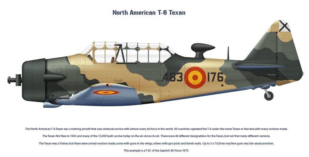 T-6 Texan 1975 | Airplanes Coleccions | Pinterest | Aviones ...