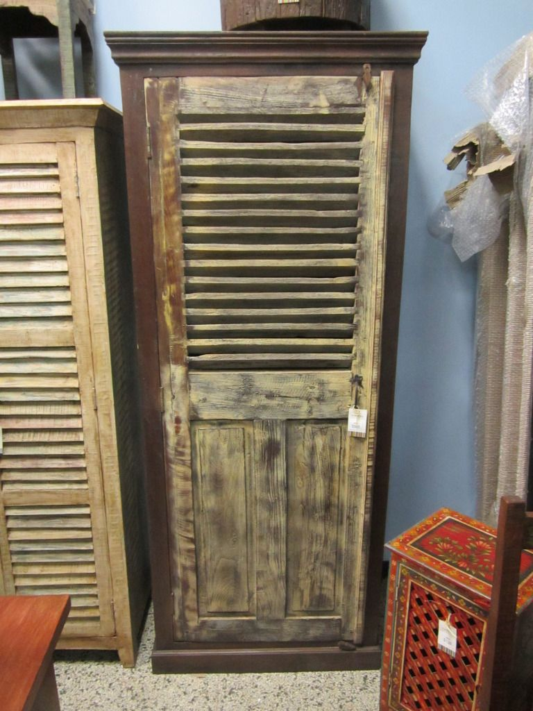 Tall rustic cabinet imported from india w d h