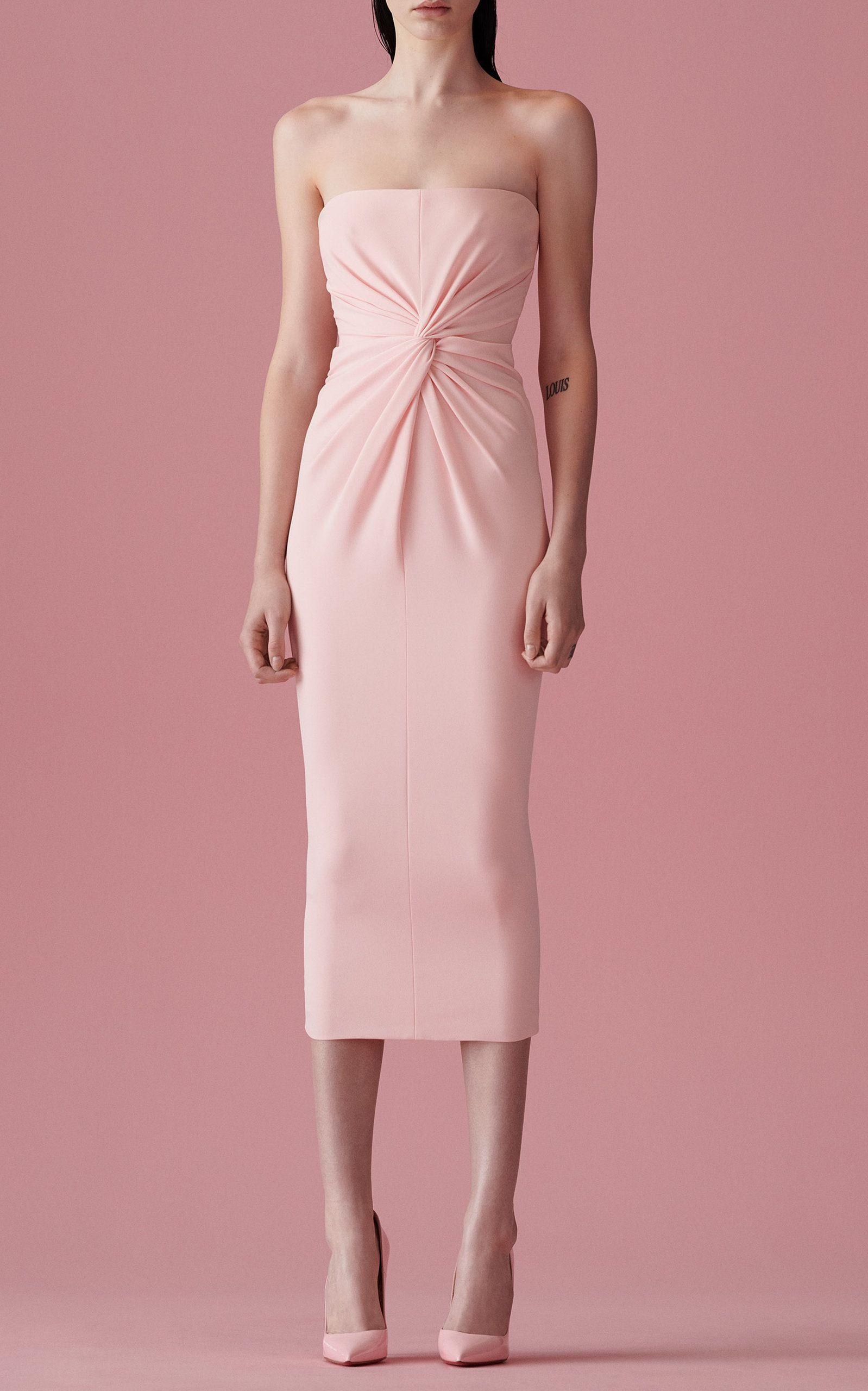 Alex Perry Lindsey Ruched Crepe Midi Dress Strapless Midi Dress Dresses Fashion [ 2560 x 1598 Pixel ]