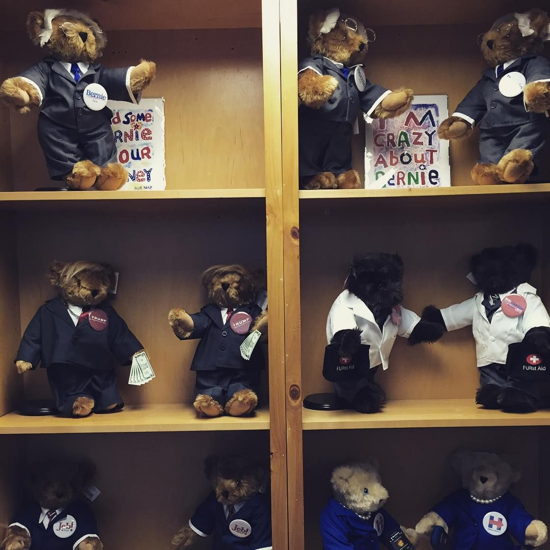 """""""Meet this year's presidential candidates, Vermont Teddy Bear style."""""""