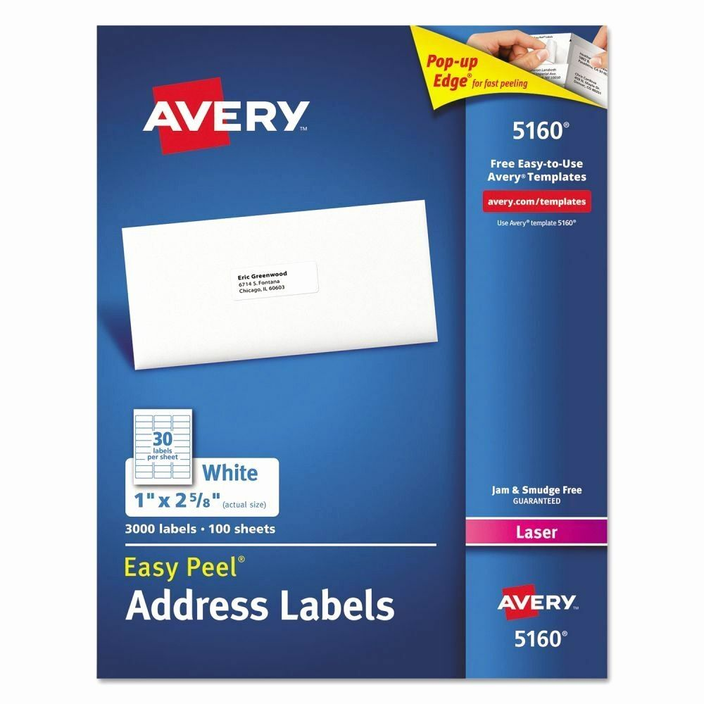 Avery Return Address Labels 5160 New Avery Easy Peel Address Labels Ave5160 Avery Address Labels Mailing Address Labels Address Labels Avery return address labels 5160