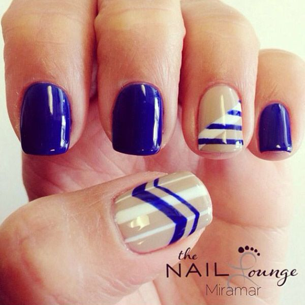 15 Must Try Blue Manicures For Summer - 15 Must Try Blue Manicures For Summer Tan Nails, Manicure And Summer