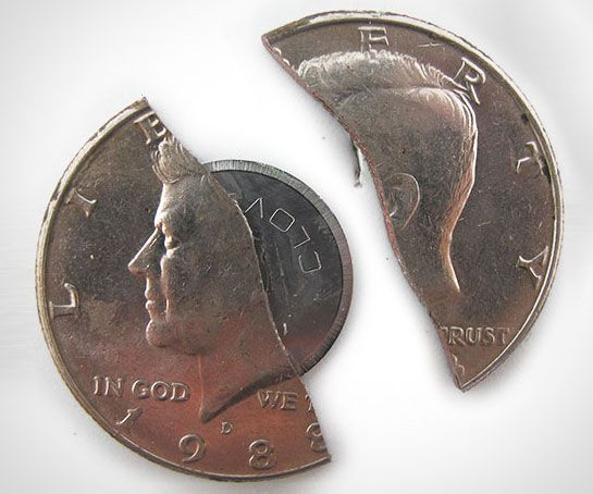 50 Cent Hidden Blade Coin Weapon jewelry