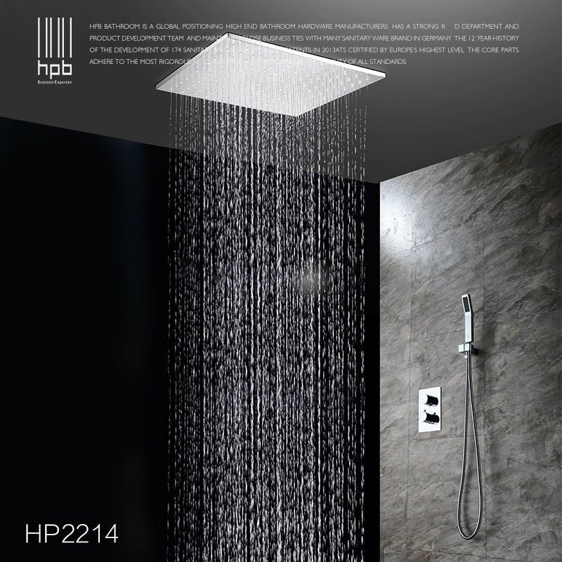 Hpb Brass Bathroom Thermostatic Water Mixer Ceiling Mounted Shower