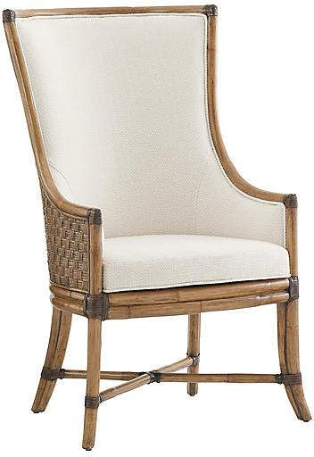 Tommy Bahama Balfour Armchair Soft Taupe Solid Wood Dining Chairs Upholstered Dining Chairs Host Chairs