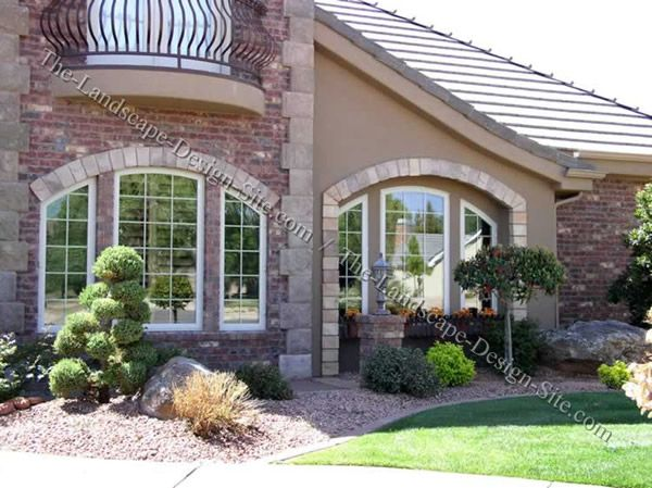 Front Yard Xeriscape Ideas Simple Entryway Design