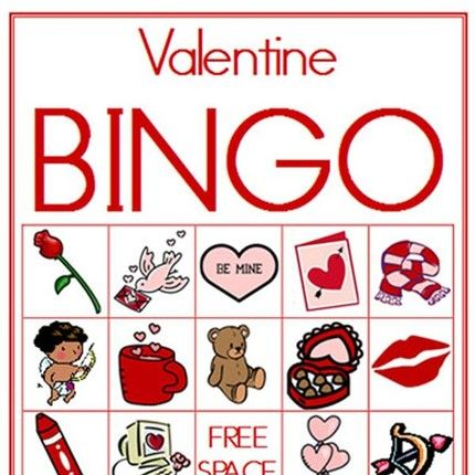 Valentine Bingo. Use Red Hots Or Heart Candies For Markers