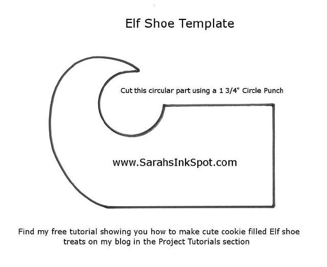 photograph about Elf Shoe Pattern Printable titled SarahsInkSpot-Elf-Shoe-Template-upon Xmas Elf