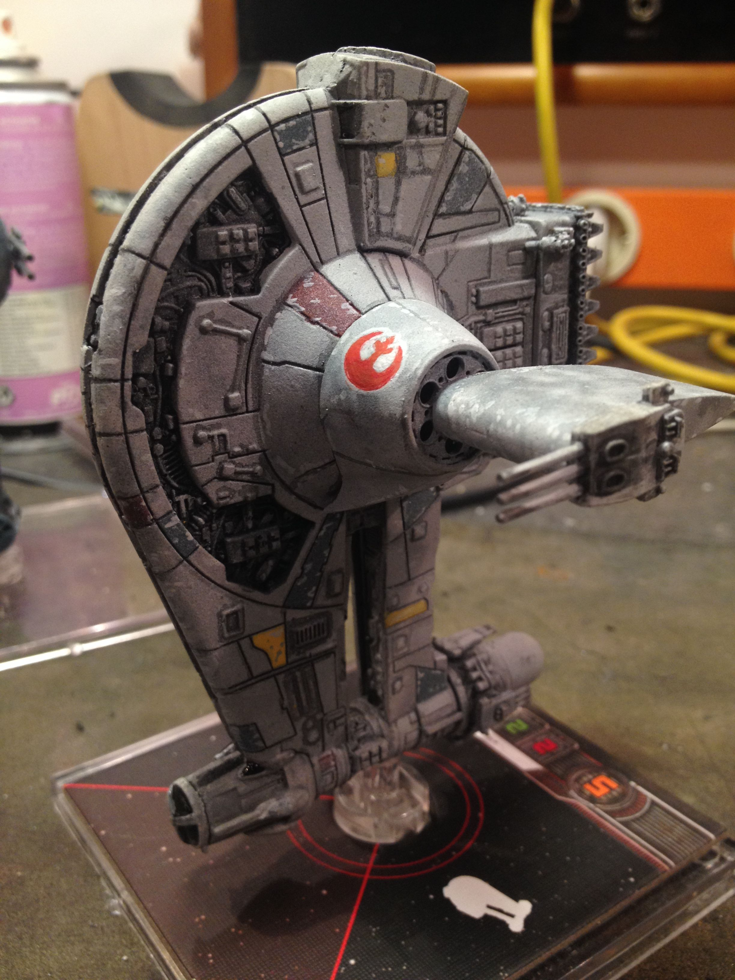 Customized YT-2400 | X-wing miniatures game | Star wars