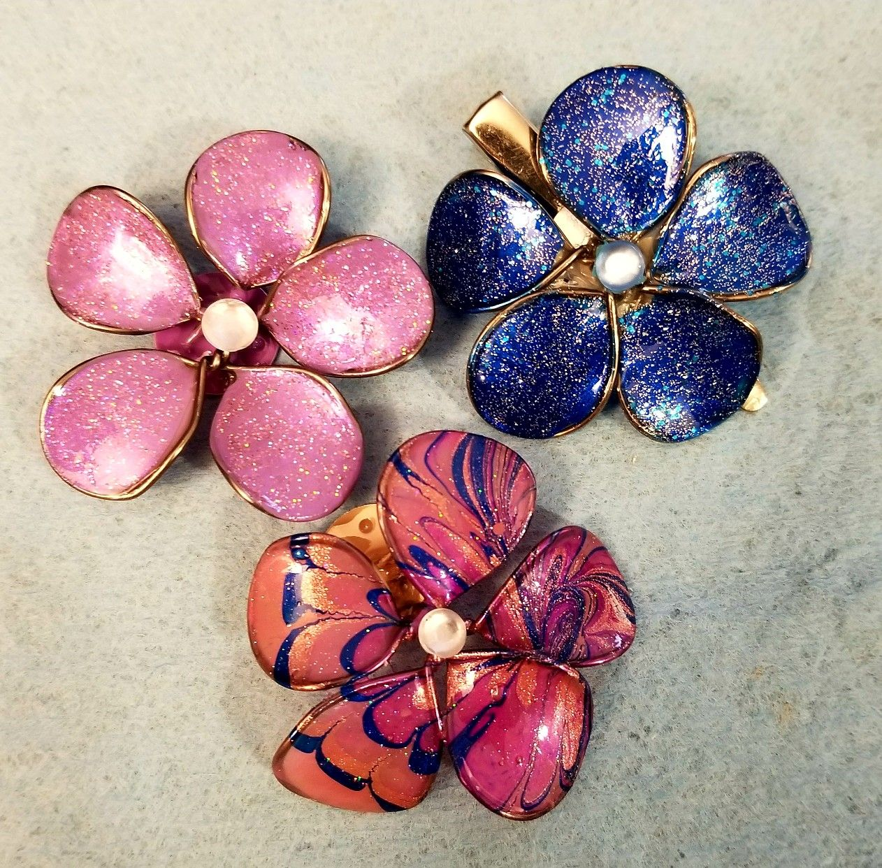 Wire, wood glue and nail polish flowers | crafty | Pinterest ...