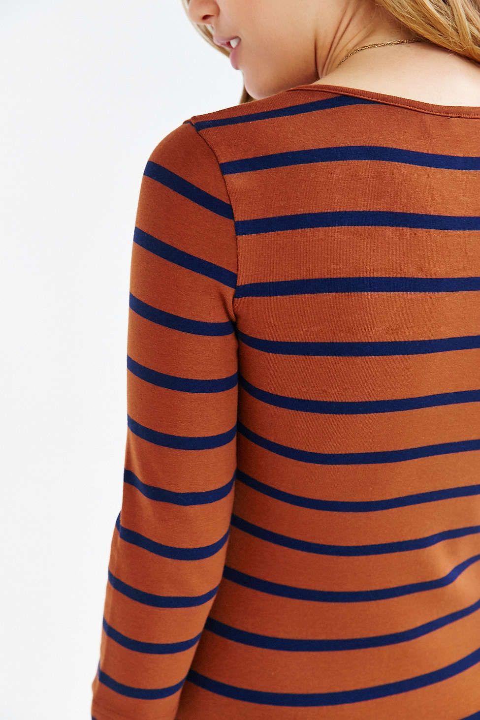BDG Striped Knit Midi Dress