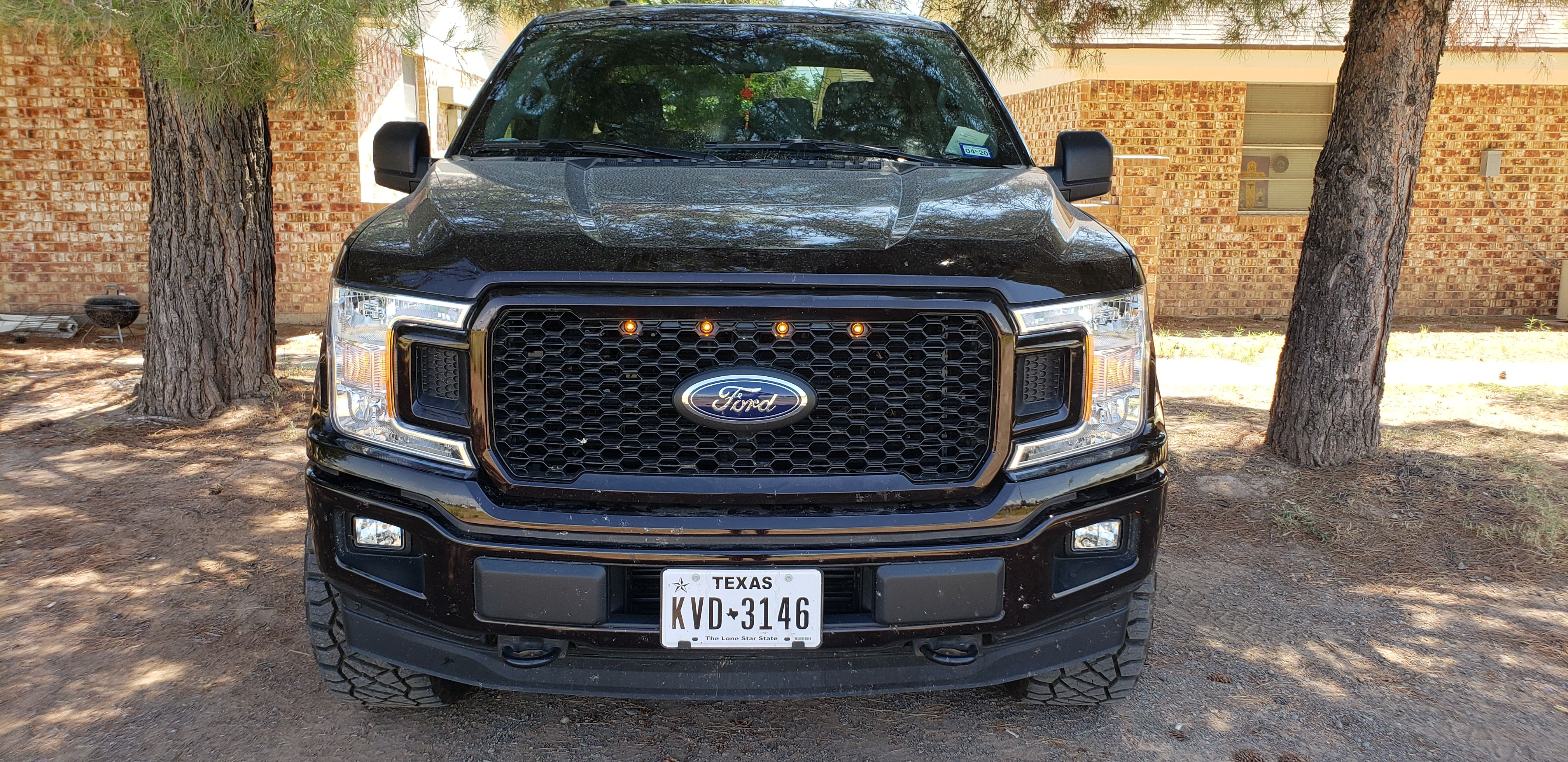 2018 2020 F150 With Stx Or Lariat Special Edition Grille Custom Auto Works Raptor Style Led Amber Grille Light Kit Rapl 2018stxse F150 Custom F150 Grilles