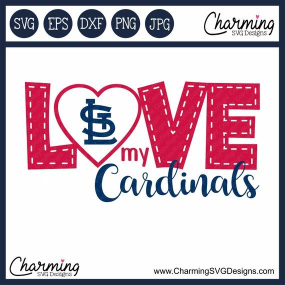 Download SVG, Love My St. Louis Cardinals SVG, Cardinals Cut File ...