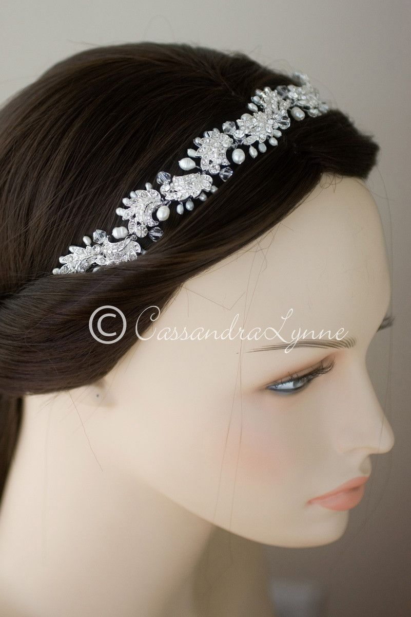 Vintage Styled Bridal Hair Vine with Beads and Pearls