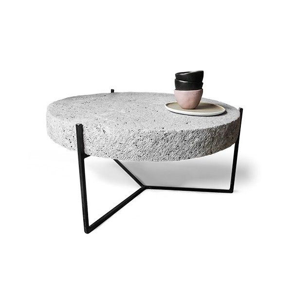 Mesa de piedra escape mobiliario madera concreto pinterest piedra mesas y hierro - Mesas de piedra ...