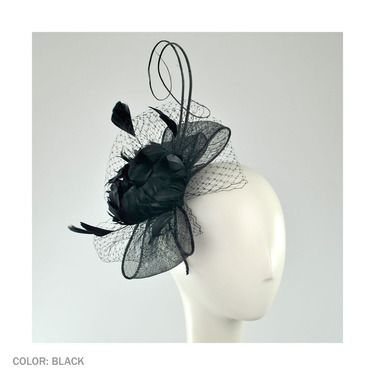 Classic black fascinator. From  Village Hat Shop - Official Hat Sponsor of  the 2013 Del Mar Thoroughbred Club. cf094f02683