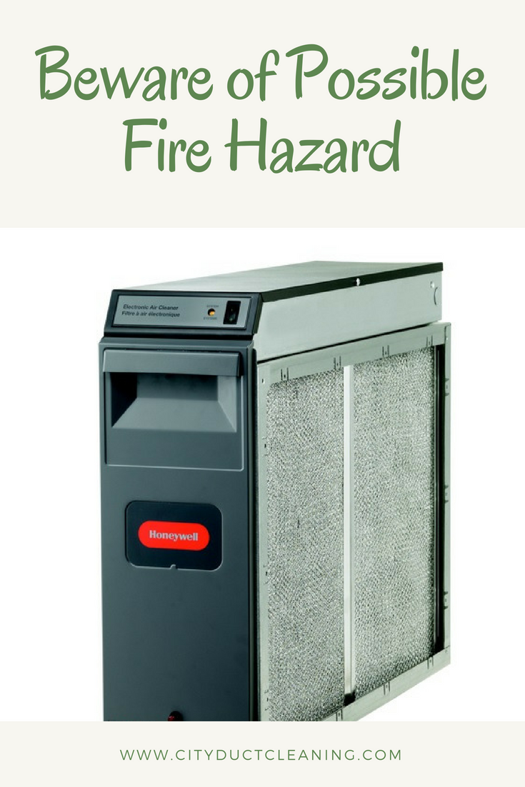 Beware of possible fire hazard. aircleaner hvac home
