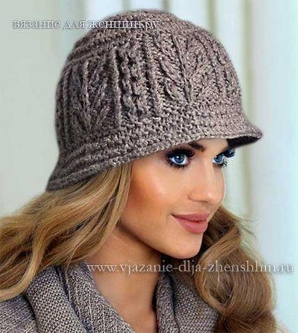 Вязаные шляпы для женщин спицами со схемами