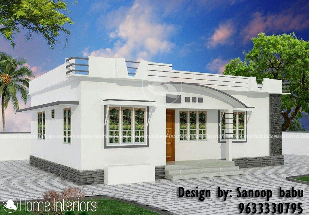 800 Square Feet Single Floor Contemporary Home Design In 2020 Bungalow House Design Kerala House Design House Roof Design
