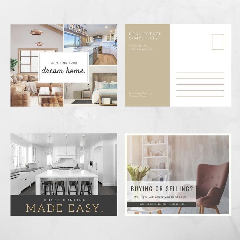 Real Estate Postcards Facebook Posts Instant Download Png Etsy Real Estate Postcards Real Estate Real Estates Design