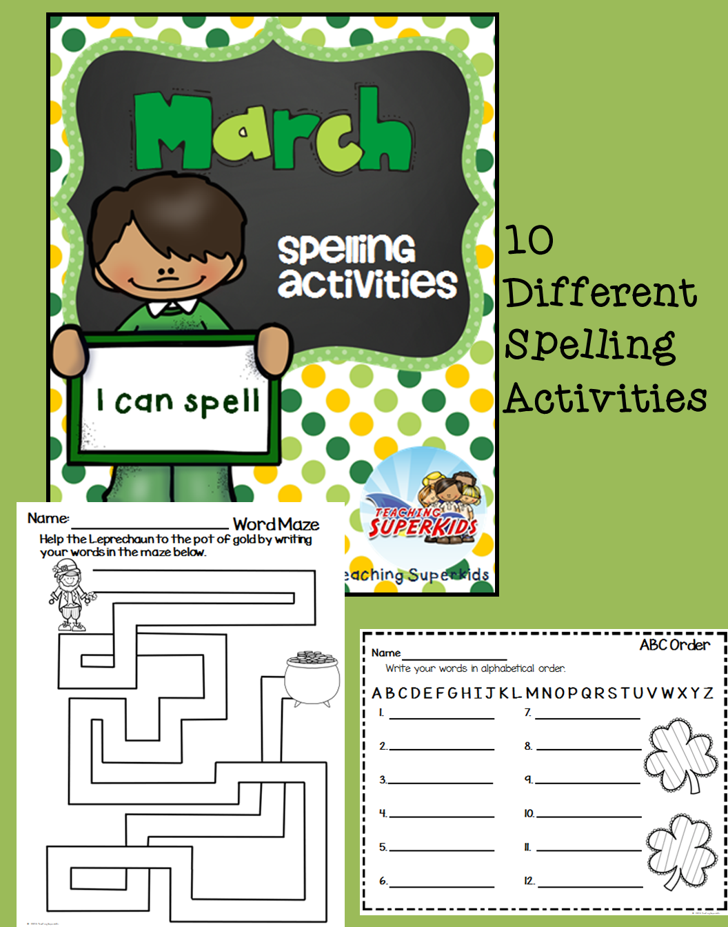 Spelling Activities For March Spelling Activities That Can