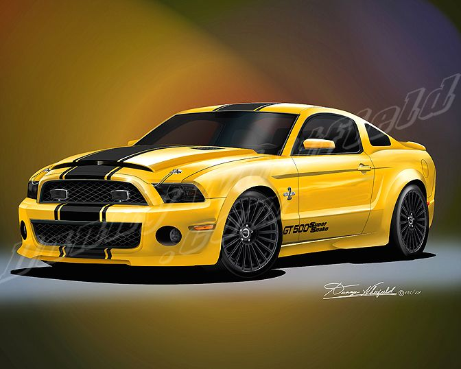 2012 Mustang Shelby Gt500 Diamondback Sunblast Yellow Http Www