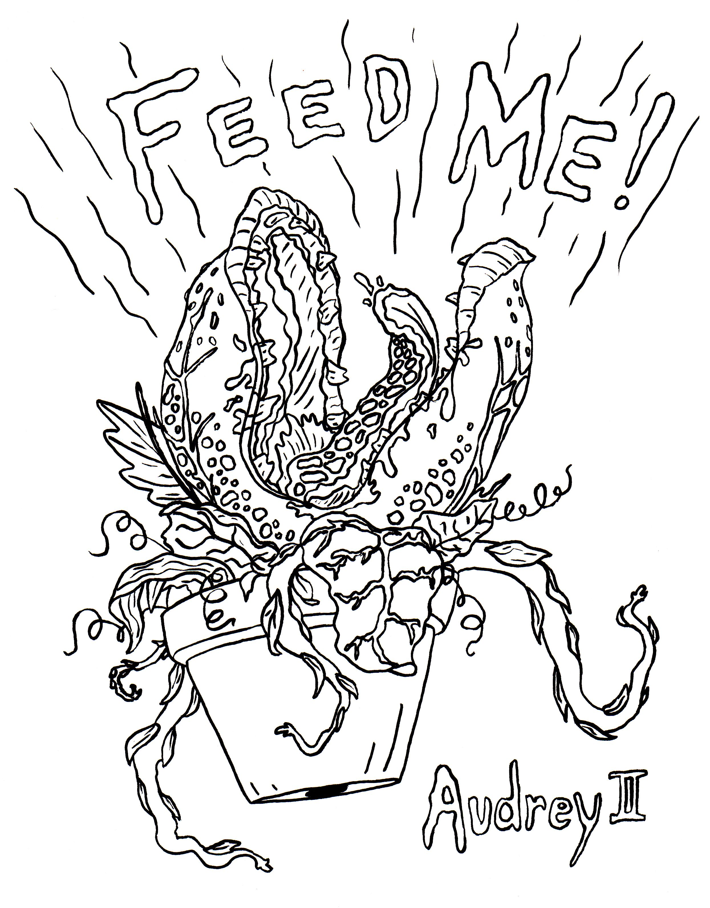 Coloring pages for halloween coloring contest - Little Shop Of Horrors Coloring Pages