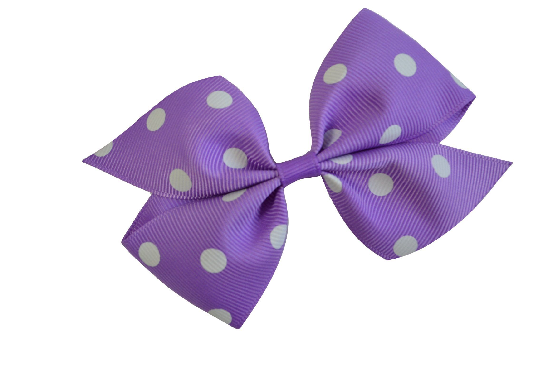 Set of Two Grosgrain Ribbon Pinwheel Hair Bows With Alligator Clip For  Girls.
