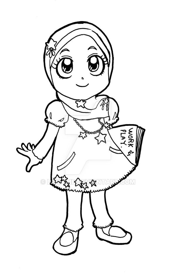 Coloring Girl Muslim Pages 2020 Coloring Pages For Girls