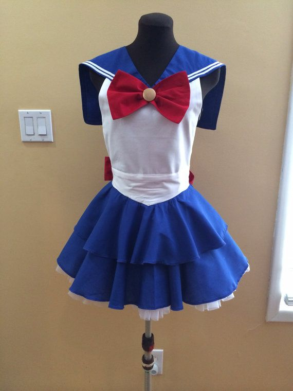 Costume apron inspired by Sailor Moon by byemilyrose on Etsy